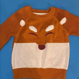 Toddler Fox pull over sweater/ boy